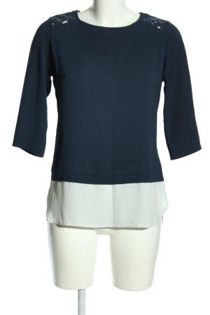 Atmosphere Schlupf-Bluse blau-weiß Blumenmuster Business-Look