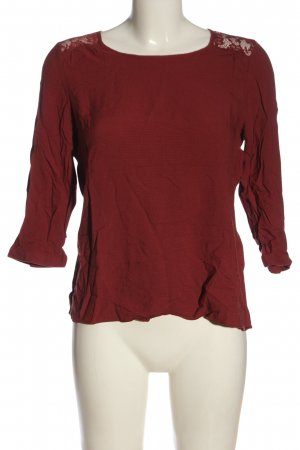 Atmosphere Schlupf-Bluse rot Blumenmuster Casual-Look