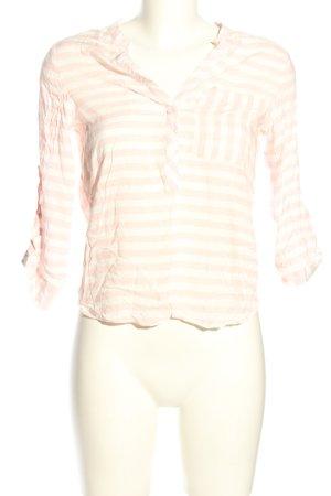 Atmosphere Schlupf-Bluse creme-weiß Streifenmuster Casual-Look