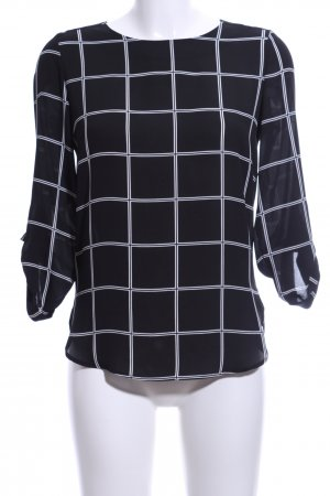 Atmosphere Slip-over blouse zwart-wit geruite print casual uitstraling