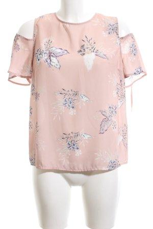 Atmosphere Schlupf-Bluse pink Blumenmuster Business-Look
