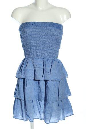 Atmosphere schulterfreies Kleid blau Casual-Look