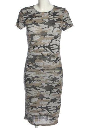 Atmosphere Vestido de tubo gris claro-marrón estampado con diseño abstracto