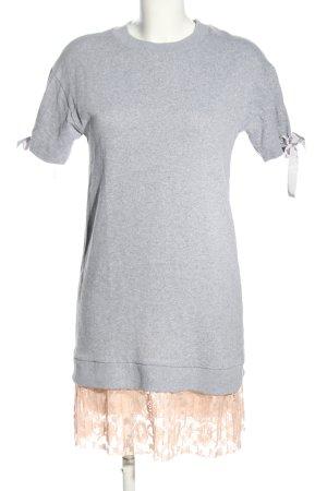 Atmosphere Shirtkleid hellgrau-wollweiß meliert Elegant