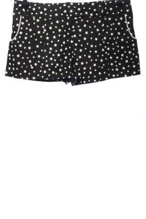 Atmosphere Shorts schwarz-weiß Allover-Druck Casual-Look
