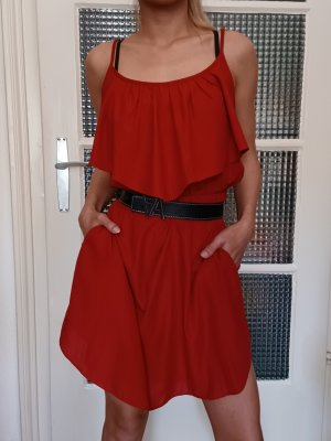 Atmosphere Sommerkleid mit Stretchband [Rot, Gr. XL]