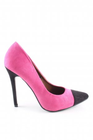 Atmosphere Spitz-Pumps pink-schwarz Elegant