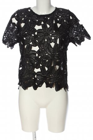 Atmosphere Lace Blouse black elegant