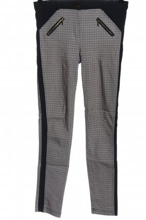 Atmosphere Stretch Trousers black-white allover print casual look