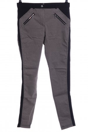Atmosphere Stretchhose schwarz-wollweiß Allover-Druck Casual-Look