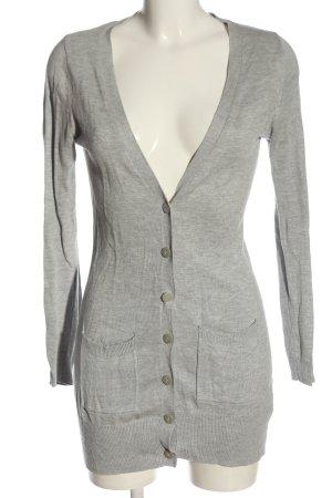 Atmosphere Cardigan tricotés gris clair moucheté style décontracté