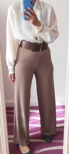 Atmosphere Wełniane spodnie beżowy