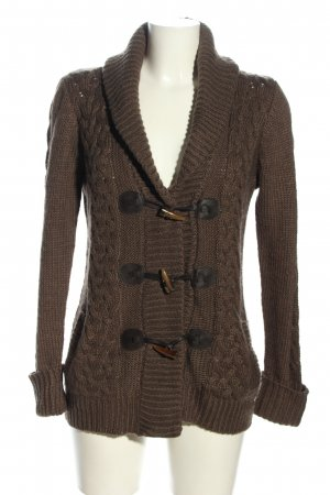 Atmosphere Cardigan brown cable stitch casual look