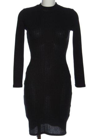 Atmosphere Robe en maille tricotées noir élégant