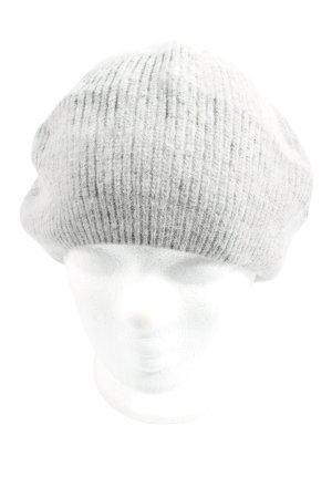 Atmosphere Cappello a maglia grigio chiaro punto treccia stile casual