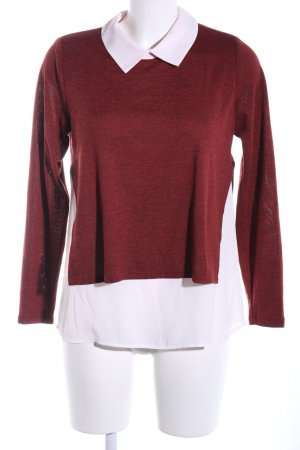 Atmosphere Strickpullover rot-weiß meliert Business-Look