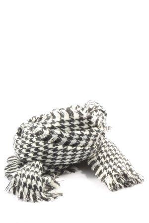 Atmosphere Sciarpa lavorata a maglia nero-bianco stampa integrale stile casual