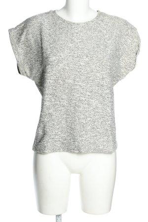Atmosphere Strickshirt weiß-schwarz meliert Casual-Look