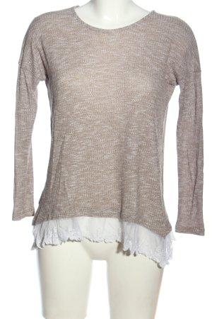 Atmosphere Camisa tejida marrón-blanco moteado look casual
