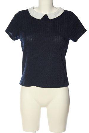 Atmosphere Strickshirt blau-weiß Streifenmuster Casual-Look