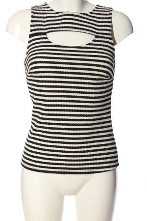 Atmosphere Strickshirt weiß-schwarz Streifenmuster Casual-Look