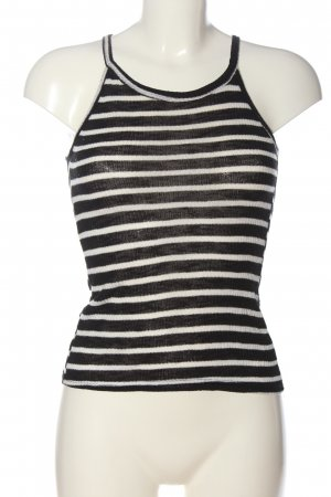 Atmosphere Knitted Top black-white allover print casual look