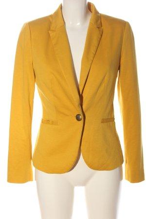 Atmosphere Blazer de tela de sudadera amarillo pálido look casual