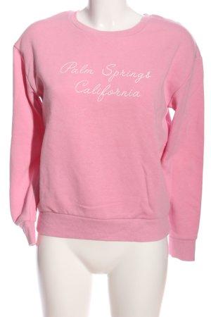 Atmosphere Sweatshirt pink Schriftzug gedruckt Casual-Look