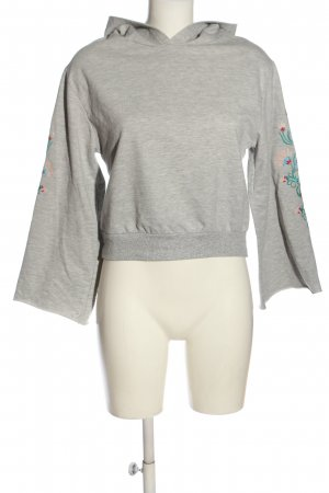 Atmosphere Sweatshirt hellgrau Blumenmuster Casual-Look