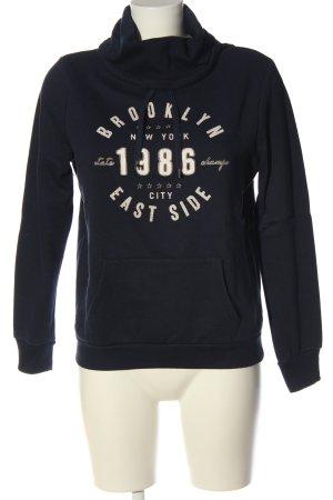 Atmosphere Sweatshirt blau-weiß Schriftzug gedruckt Casual-Look
