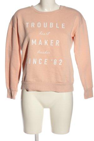 Atmosphere Sweatshirt nude-weiß Motivdruck Casual-Look