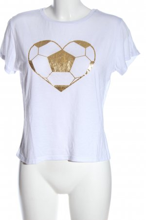 Atmosphere T-Shirt weiß-goldfarben Motivdruck Casual-Look