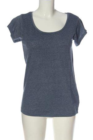 Atmosphere T-shirt bleu moucheté style décontracté