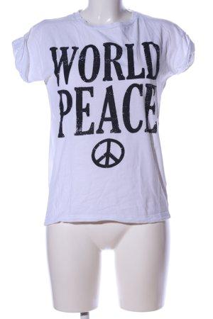Atmosphere T-Shirt weiß Schriftzug gedruckt Casual-Look