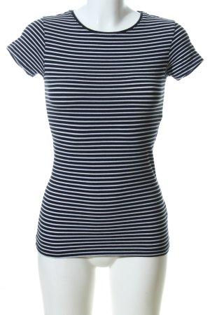 Atmosphere T-Shirt schwarz-weiß Allover-Druck Casual-Look
