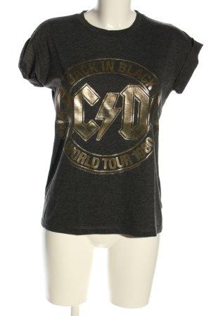 Atmosphere T-Shirt schwarz-goldfarben meliert Casual-Look