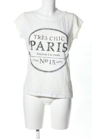 Atmosphere T-Shirt weiß-schwarz Motivdruck Casual-Look