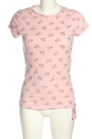 Atmosphere T-Shirt pink-schwarz Allover-Druck Casual-Look