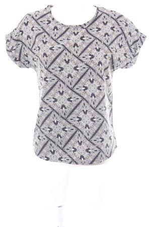 Atmosphere T-Shirt schwarz-creme Ornamentenmuster Casual-Look
