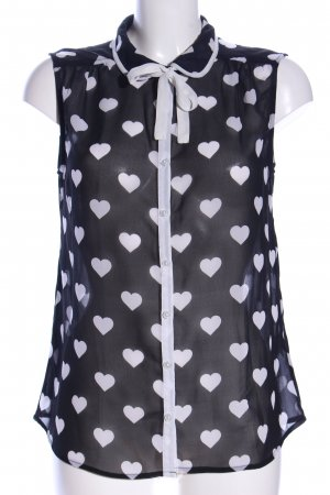 Atmosphere Transparent Blouse white-black allover print casual look