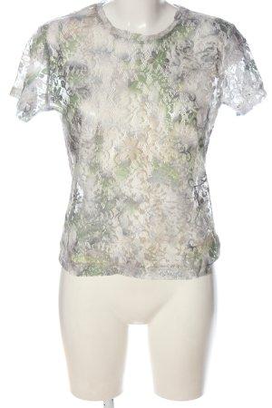 Atmosphere Transparentna bluzka w kolorze białej wełny-niebieski Elegancki