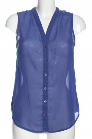 Atmosphere Transparenz-Bluse blau Casual-Look