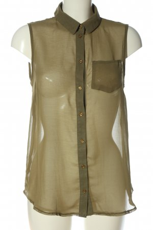 Atmosphere Transparenz-Bluse khaki Casual-Look