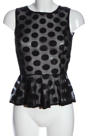 Atmosphere Transparenz-Bluse schwarz Punktemuster Elegant