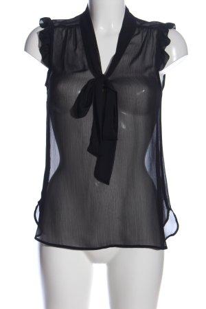 Atmosphere Transparenz-Bluse schwarz Elegant