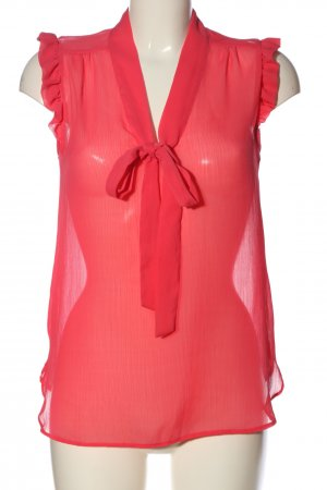 Atmosphere Transparenz-Bluse rot Webmuster Casual-Look