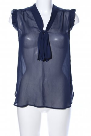 Atmosphere Transparenz-Bluse blau Business-Look