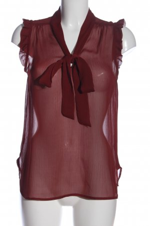 Atmosphere Transparenz-Bluse rot Casual-Look