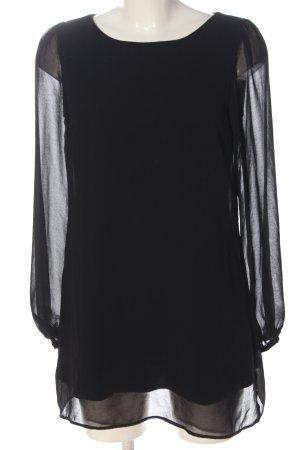 Atmosphere Blusa a tunica nero elegante