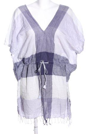Atmosphere Vestido tipo túnica blanco-lila estampado a cuadros look casual